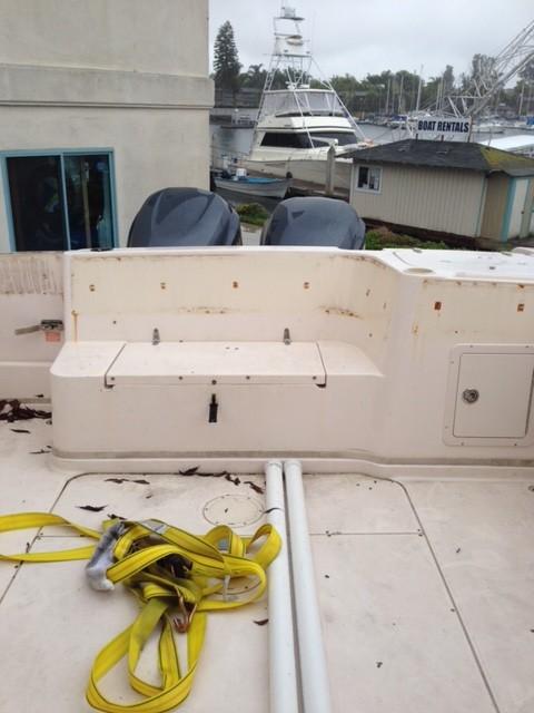 how to make polish for fiberglass boat that has enozation